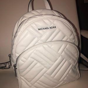 Michael Kors White BackPack